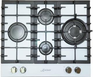 Белые варочные панели от Kaiser — обзор электрических и газовых моделей